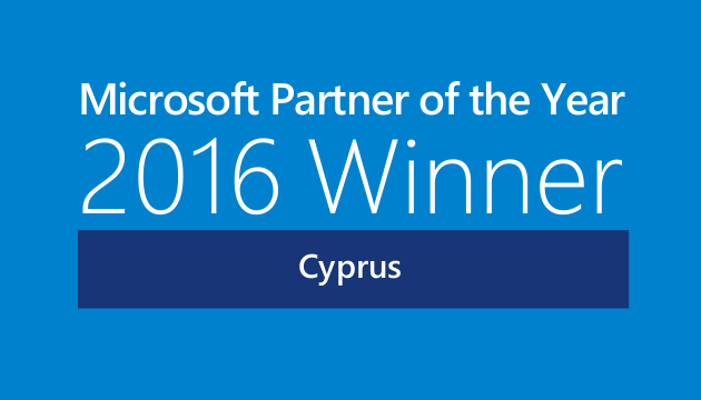 Microsoft Partner of the Year 2016 Winner Cyprus