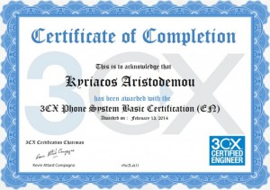 3CX Phone System Basic Certification 13-02-2014