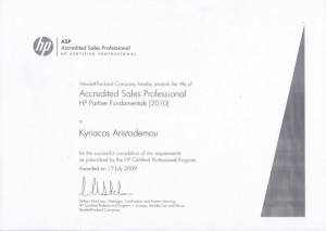 Accredited Sales Professional - HP Partner Fundamentals 2010