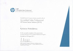 Accredited Sales Professional - HP ProLiant Server Solutions 2010