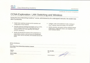 CCNA Exploration - LAN Switching and Wireless