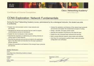 CCNA Exploration - Network Fundamentals