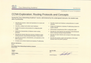 CCNA Exploration - Routing Protocols and Concepts