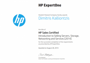 HP Sales Certified - Introduction to Selling Servers, Storage, Networking and Services 2014