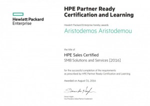HPE Sales Certified - SMB Solutions and Services 2016 - 31-08-2016