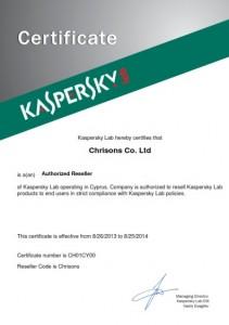 Kaspersky Authorised Reseller 2013-2014