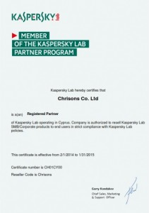 Kaspersky Registered Partner 2014-2015
