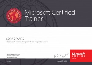 Sotiris Pafitis - Microsoft Certified Trainer