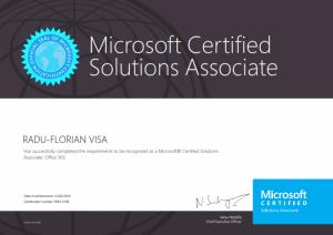 Microsoft Certified Associate - Office 365 - 11-02-2014