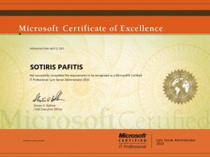 Microsoft Certified IT Professional - Lync Server Administrator 2010 - 12-04-2013