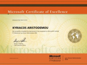 Microsoft Certified IT Professional - Lync Server Administrator 2010 - 19-04-2013