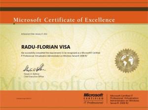 Microsoft Certified IT Professional - Virtualization Administration on Windows Server 2008 R2 - Radu