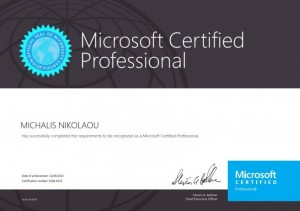 Microsoft Certified Professional 09-11-2013