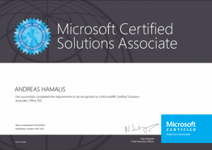 Microsoft Certified Solutions Associate - Office 365 19-02-2015