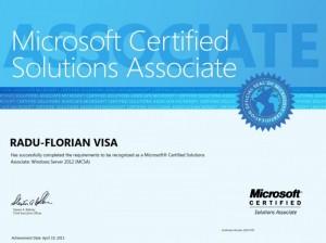 Microsoft Certified Solutions Associate - Windows Server 2012 MCSA - 19-04-2013