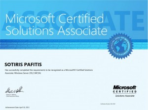 Microsoft Certified Solutions Associate - Windows Server 2012 - MCSA