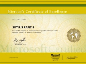Microsoft Certified Technology Specialist - Lync 2010 Configuration - 05-04-2013