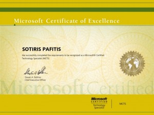 Microsoft Certified Technology Specialist - MCTS