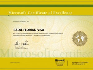 Microsoft Certified Technology Specialist - Windows 7 and Office 2010 Deployment - 22-03-2013