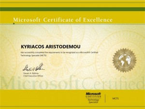 Microsoft MCTS - Kyriacos
