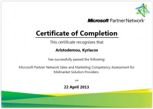 Microsoft Partner Network Sales and Marketing Competency Assessment for Midmarket Solution Providers - 22-04-2013