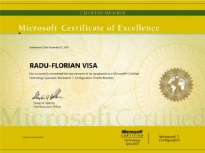 Microsoft Windows 7 Configuration Charter Member - Radu