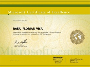 Micrososft Exchange Server 2007 Configuration