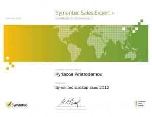 Symantec Sales Expert Plus - Symantec Backup Exec 2012 - 20-06-2013